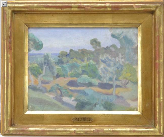 Ett spanskt landskap av Ivan Agueli som levde mellan 1869-1917. En riktig liten pärla som ropas ut för 100 000 kronor