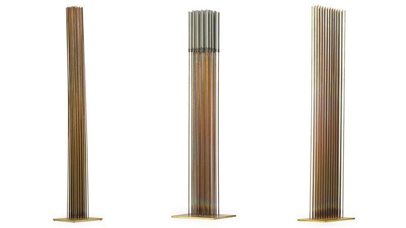 Harry Bertoia, tre sculture Sonambient, Bally, PA, anni '70s. Stima; 50-75.000 dollari ciascuna.