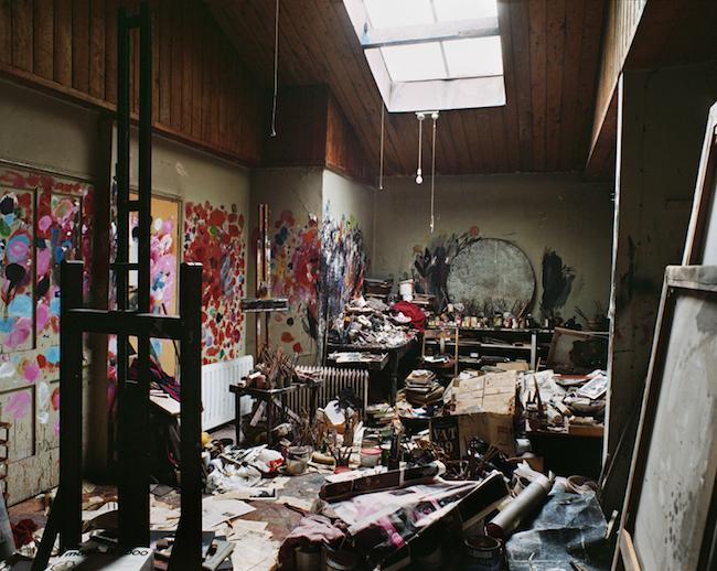 Francis Bacons studio i London. Foto: Perry Ogden