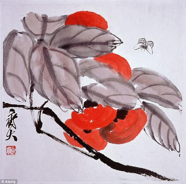 Une oeuvre du peintre Qi Baishi, un des artistes copiés
