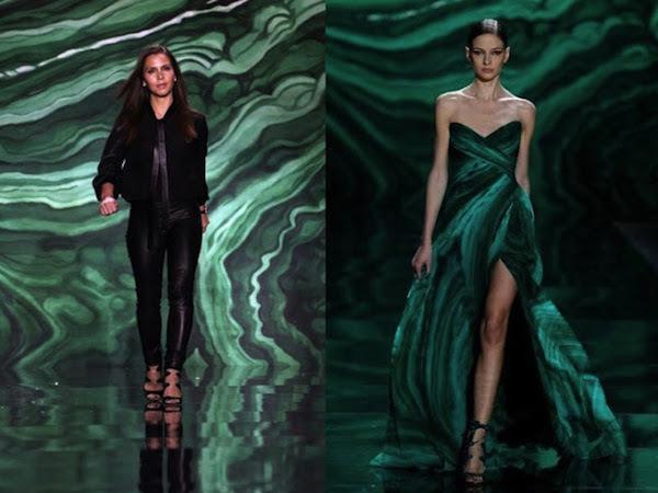 Incluso el mundo de la moda ama el malaquita