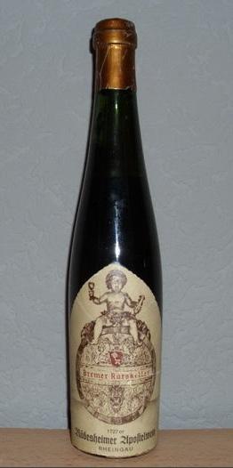 1727er Rüdesheimer Apostelwein, Bremer Ratskeller, 289 years old