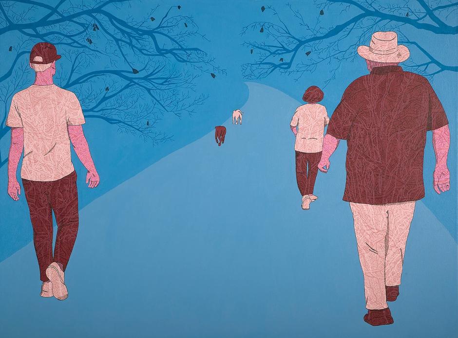 Bluerider Art, family walk, Rine Boyer (2016) 圖片:YAT