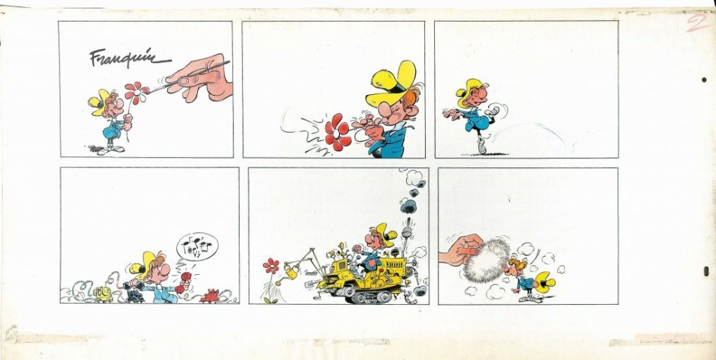 ANDRÉ FRANQUIN - C'est le Printemps, Bleistift und Tinte auf Karton, signiert Schätzpreis: 29.000-45.000 EUR