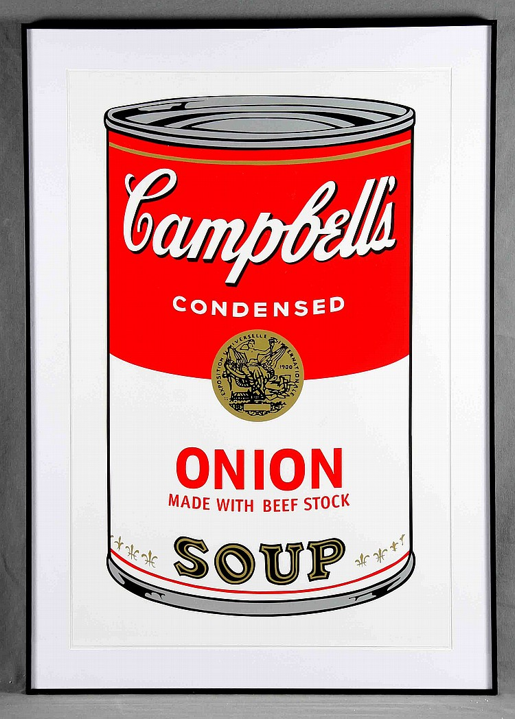 """ANDY WARHOL. """"Campbell's Soup Can 11.47. Onion"""". Litografía (1988)"""