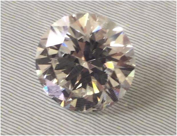 2.17ct Brilliantslipad diamant J SI2
