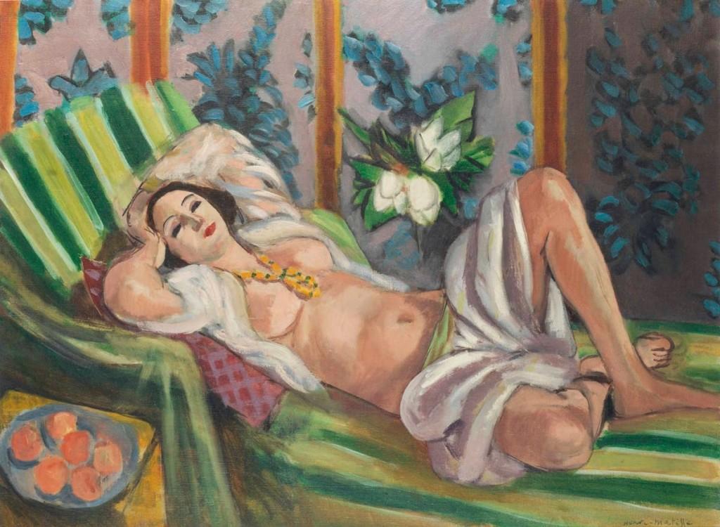Matisses Odalisque couchée aux magnolias från år 1923. Foto: Christie's.