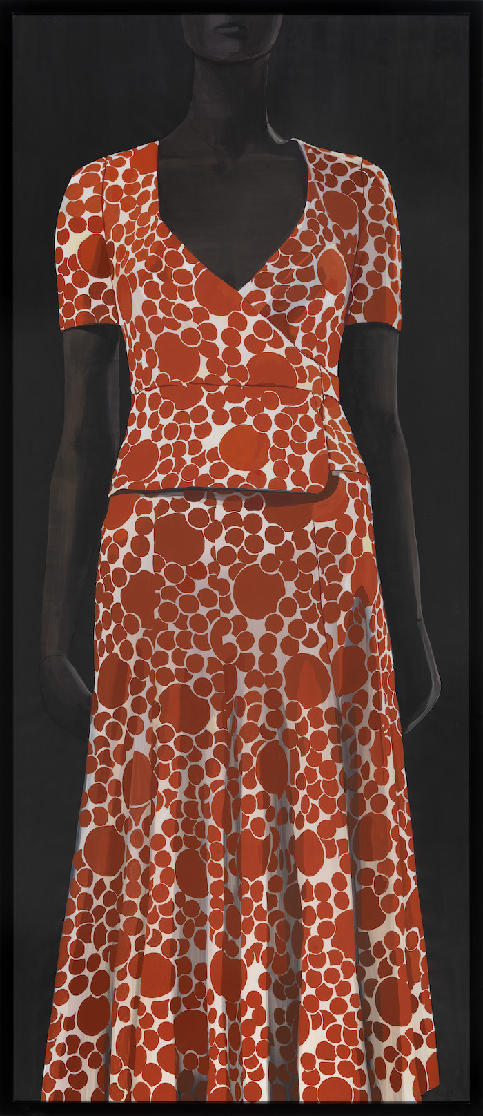 "Paulina Olowska verk från 2014 ""Mycell maxi-dress with wrap-overtop and flared T-shirt - Biba"""