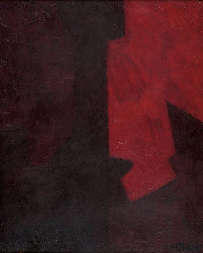 SERGE POLIAKOFF (1900-1969) Composition en rouge et brun, circa 1963