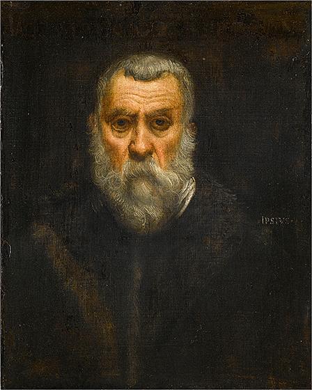 Jacopo Tintoretto, Self‑Portrait, c. 1588, oil on canvas, Musée du Louvre, Paris, Département des Peintures. © RMN-Grand Palais / Art Resource, NY, Jean Gilles-Berizzi