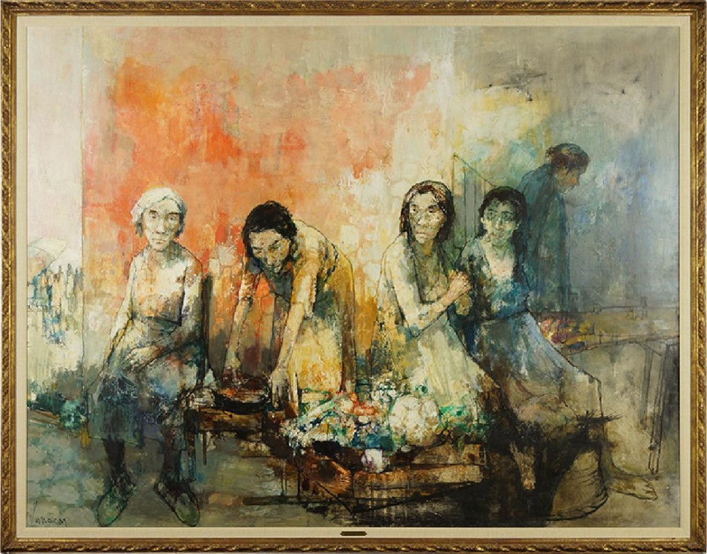 Monumental oil painting by Jean Jansem