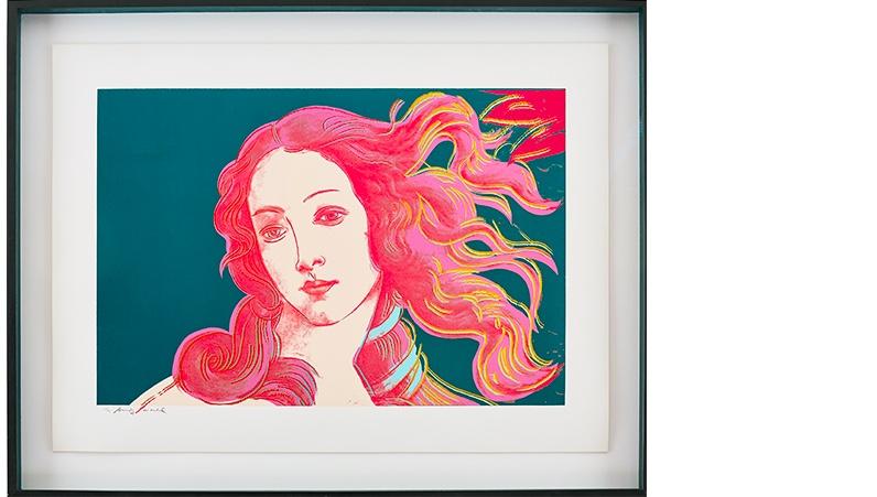 ANDY WARHOL (1928-1987) - Details of Renaissance Paintings (Sandro Botticelli, Birth of Venus, 1482), Siebdruck, nummeriert und signiert, 1984