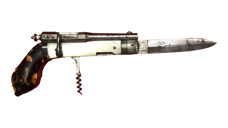 Corkscrew Pistol Knife, c. 1870. Image: Henry Aldridge