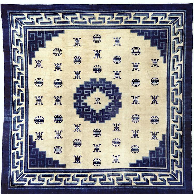Matta från Peking/Beijing, från cirka 1875-1900. Stock No. hax5066ag. Width 178.0 in/452 cm Length 181.9 in/462 cm. Utropspris 392 000 SEK, JP Willborg