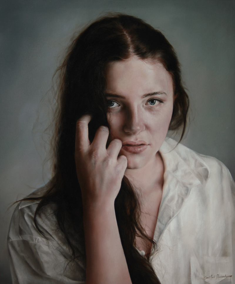 "Artely, San-Mare Raubenheimer, ""Jade"", 54 x 65 cm, 28 000 SEK"