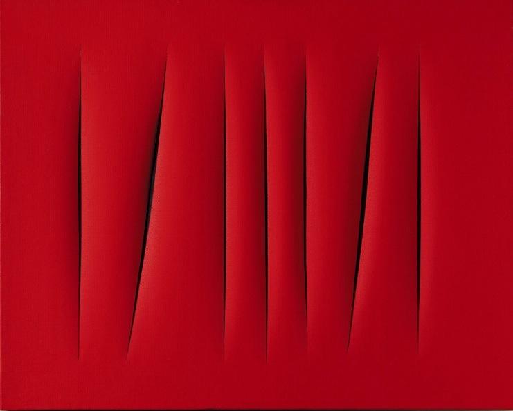 Lucio Fontanas (1899- 1968) målning.