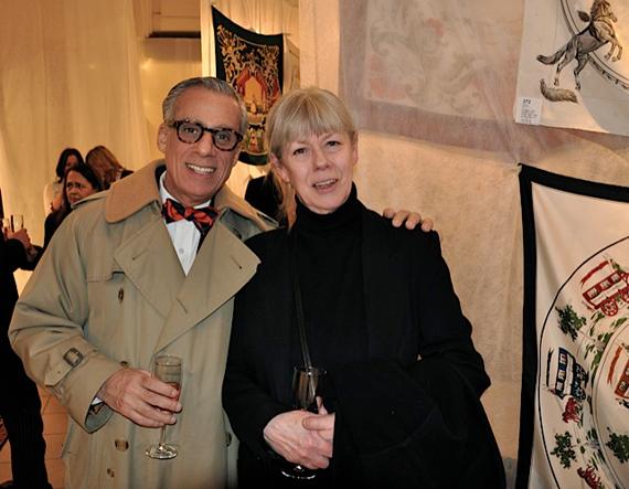 F.d.-Art-Director-på-amerikanska-Vouge-Mikael-Zielinski-med-med-Lotta-Lewenhaupt_Stockholms-Auktionsverk_Auktion