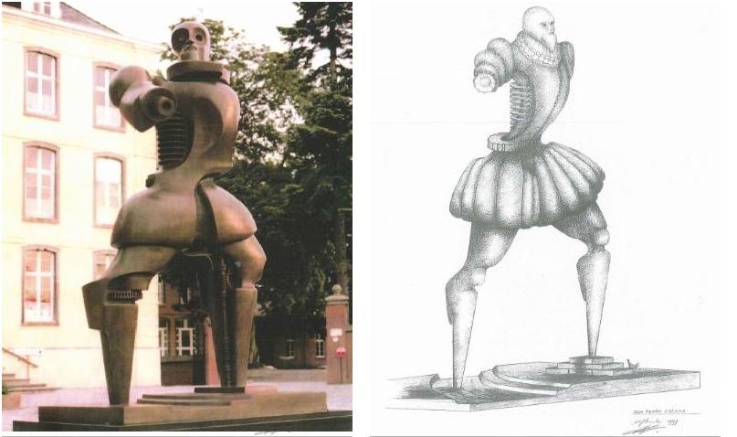 """HENRI LANNOYE - Don Pedro Coloma, Bronze, Gießerstempel """"Fonderia Mariani - Italy"""", signiert und nummeriert 2/6, 1997/98"""