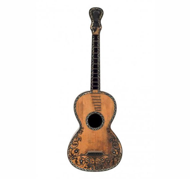 Guitare napolitaine du luthier Gennaro Fabricatore, 1829