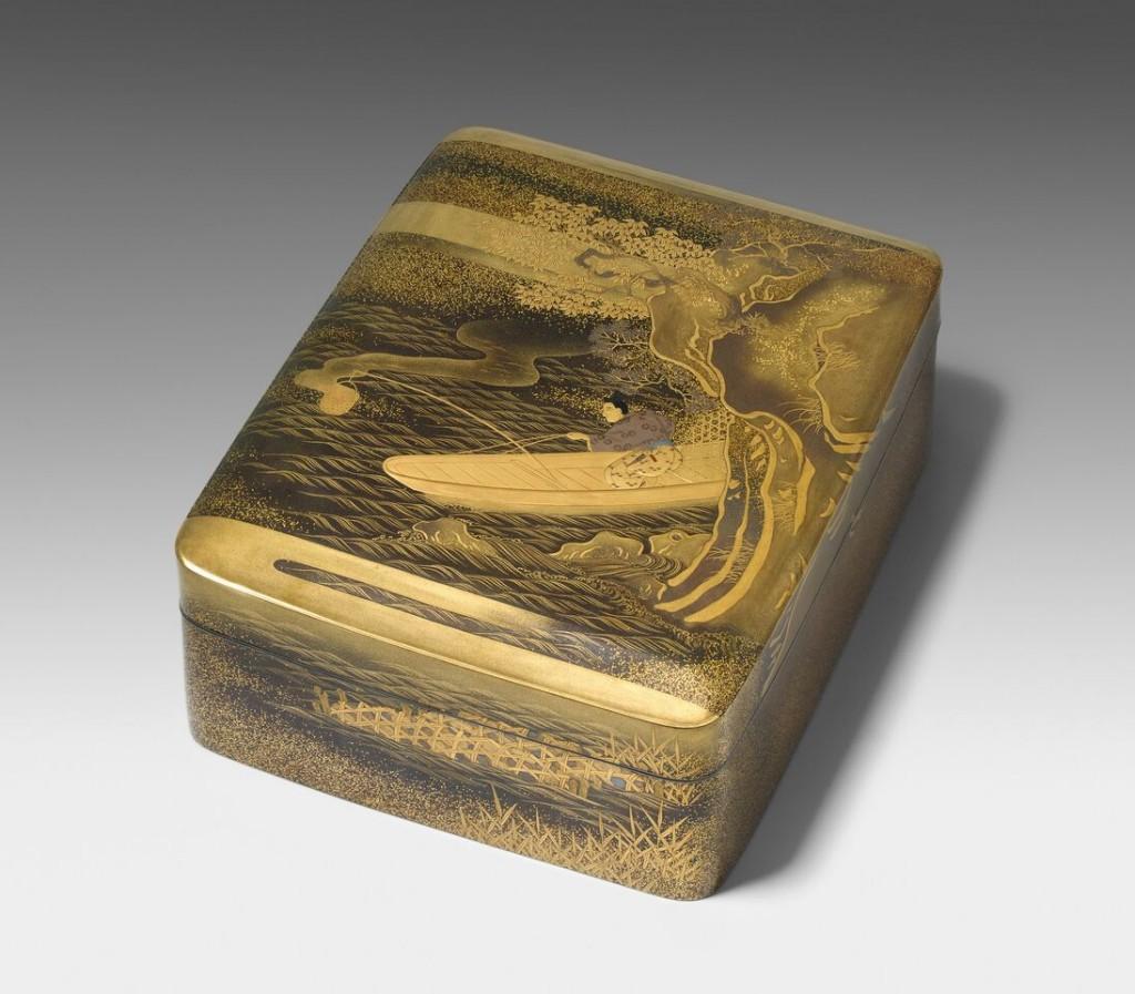Tebako, Lackschatulle mit Silbermontur, Japan, Ende Meiji-Zeit (1890) Schätzung: 8.000-10.000 CHF (7.620-9.520 EUR)