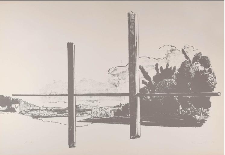 NEO RAUCH (*1960 Leipzig) - Altenburger Fenster, Siebdruck auf Velin, ca. 75,5 x 100 cm, signiert und datiert, 1997 Startpreis: 4.500 EUR