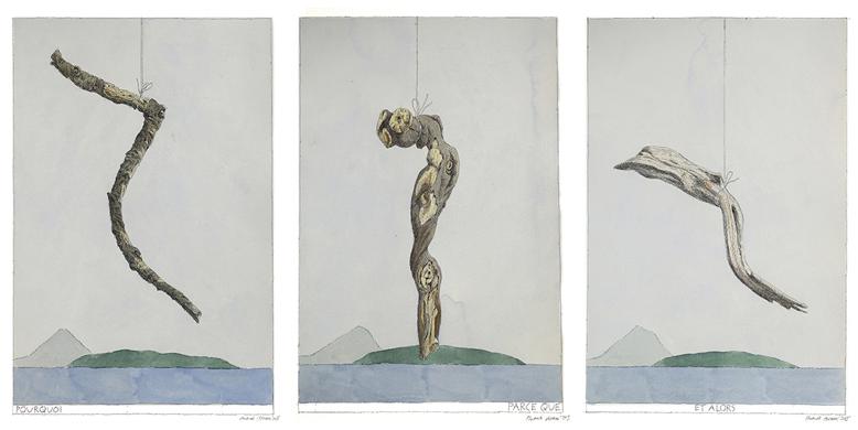 """Nikita Alexeev, De la série """"Dessins dialectiques"""", 2015. Encre et aquarelle sur papier, 50,5 x 30,5 cm © Galerie Iragui & Nikita Alexeev"""