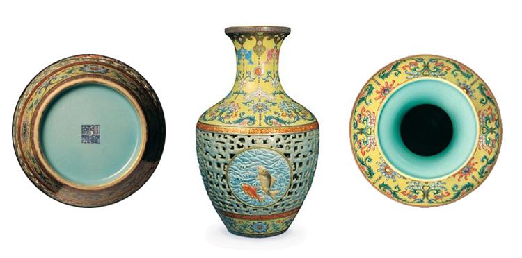 Vas från Qingdynastin