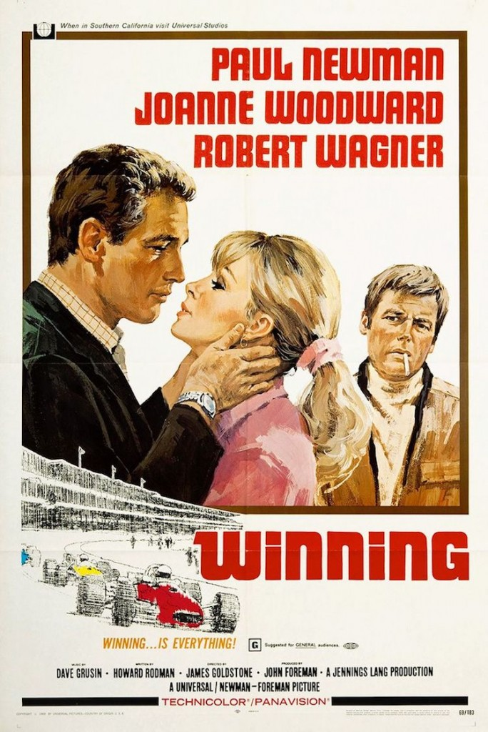 Filmaffischen till filmen Winning med de blivande makarna Newman