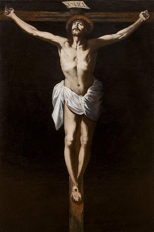 CÍRCULO DE FRANCISCO DE ZURBARÁN. Crucificado