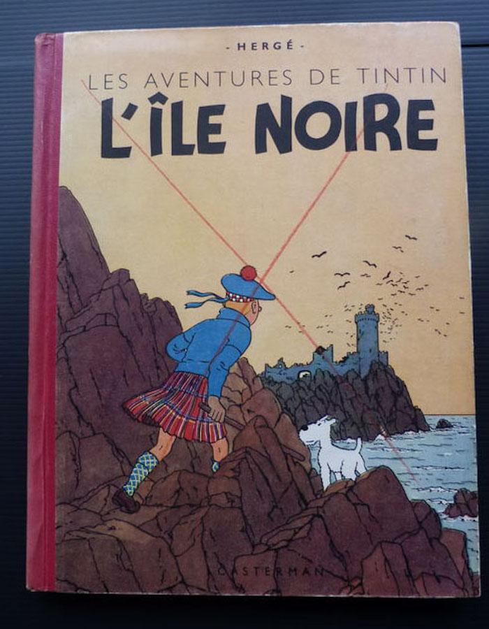 Hyfsat dyr Tintin. L´ile Noire specialupplaga från 1943