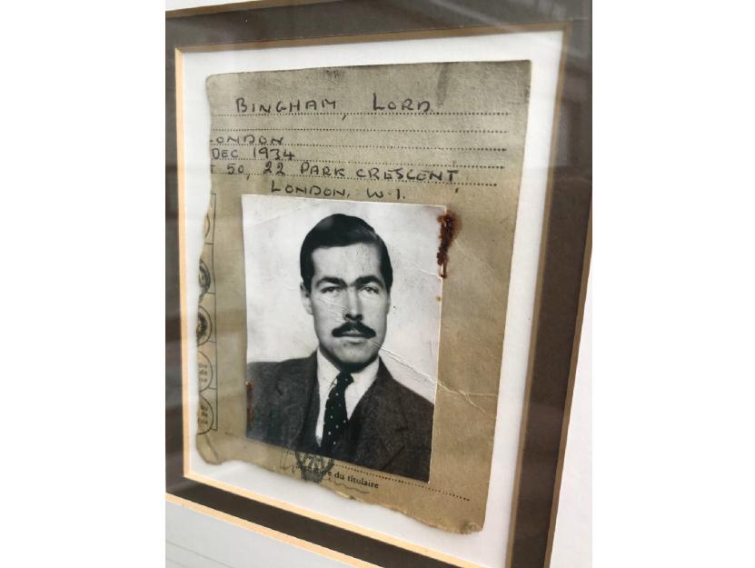 Murderer Lord Lucan's AA card. Photo: Henry Aldridge & Son