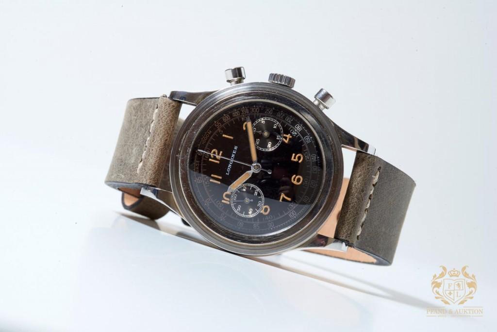 LONGINES - vintage chronograph, acier, circa 1940s