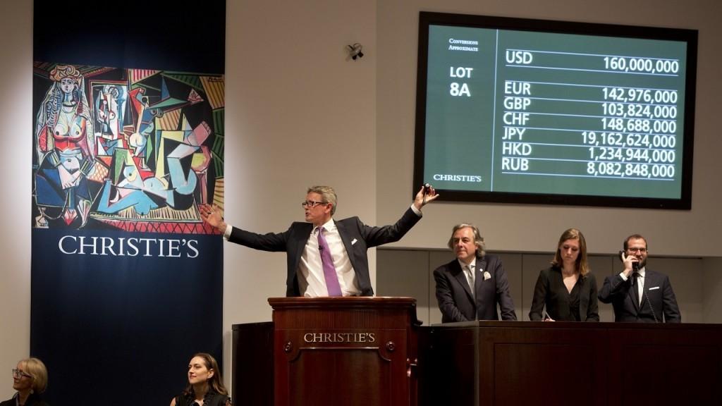Lors de la vente chez Christie's à New York Image via Christie's