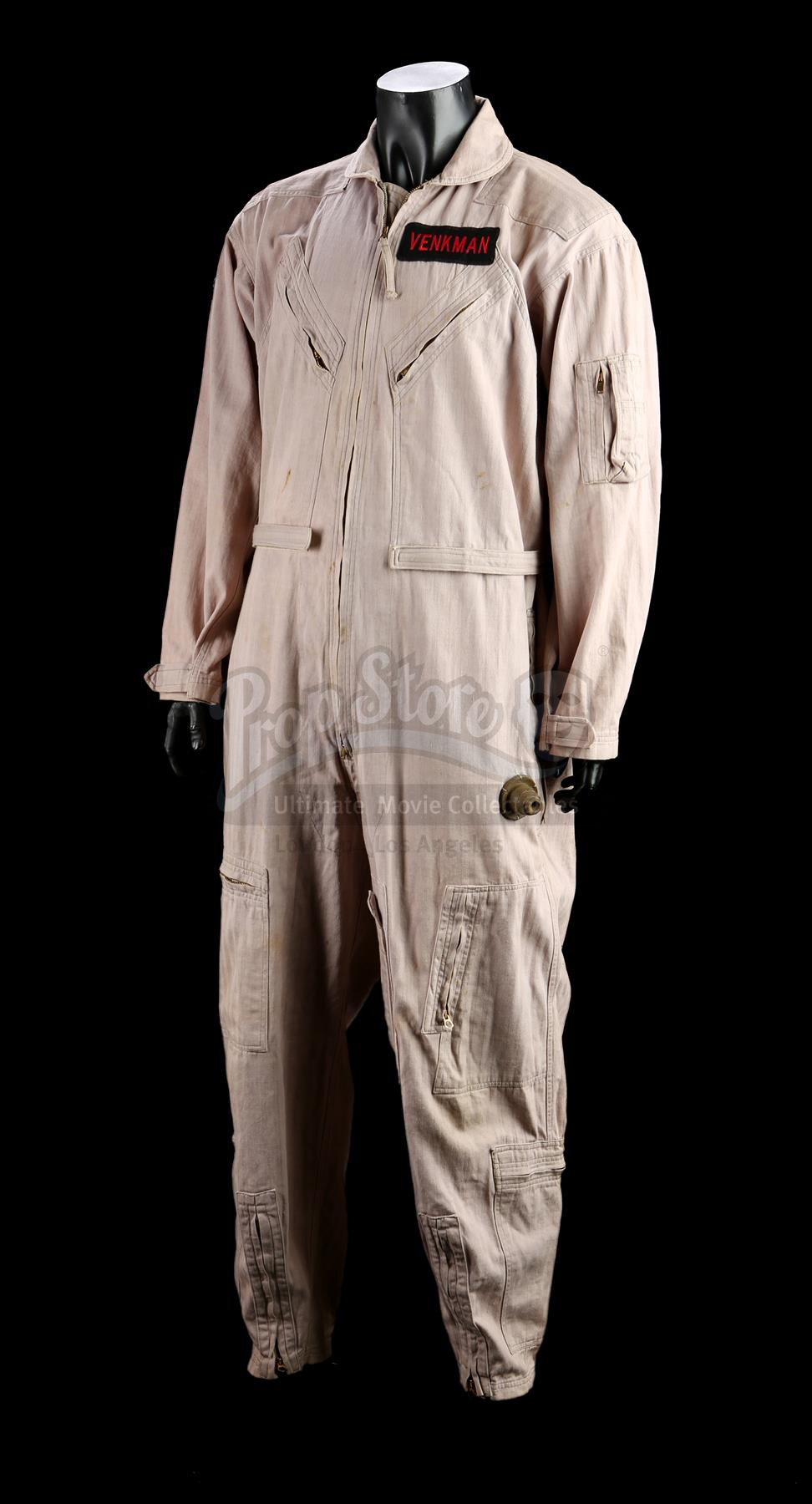 Dr. Peter Venkman's (Bill Murray) jumpsuit and an autographed cast photograph from Ivan Reitman's supernatural comedy sequel Ghostbusters II