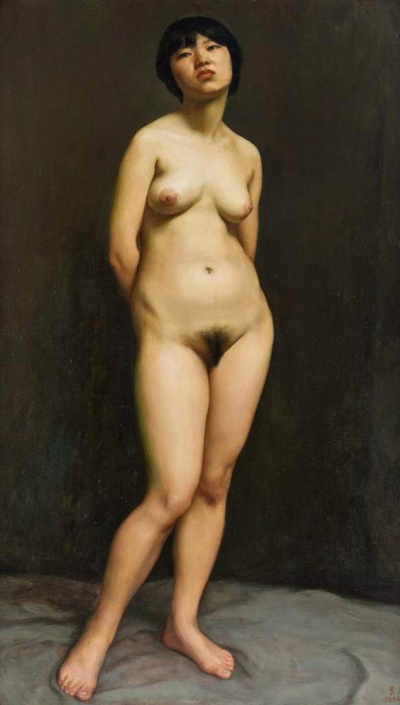 Standing Nude by Li Guijun