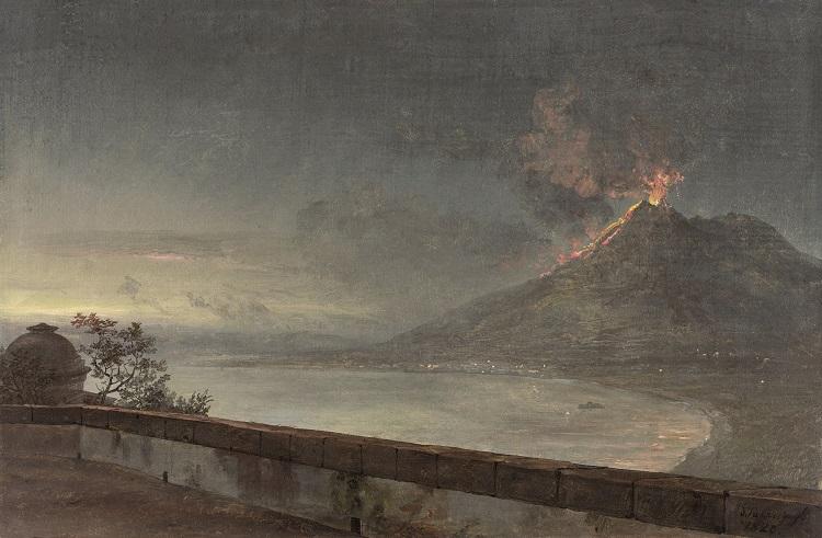 Utsikt mot Vesuvius från Villa Quisisana av Johan Christian Dahl. Foto: Cecilia Heisser/Nationalmuseum