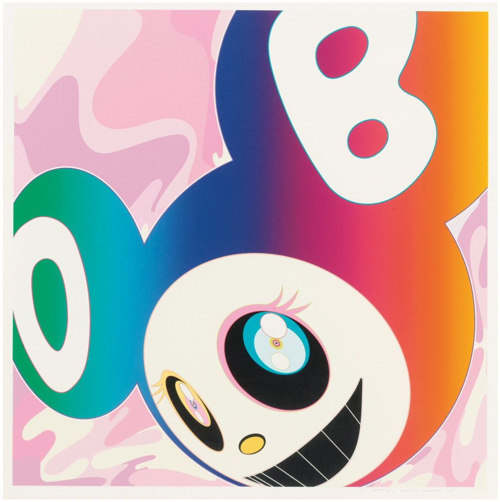 And Then Rainbow, Takashi Murakami. Utropspris 143 000 SEK. Paddle8.