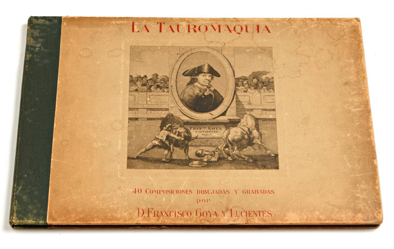 « La Tauromaquia », ouvrage de 40 compositions de Francisco de Goya, image ©Villandray & Associés