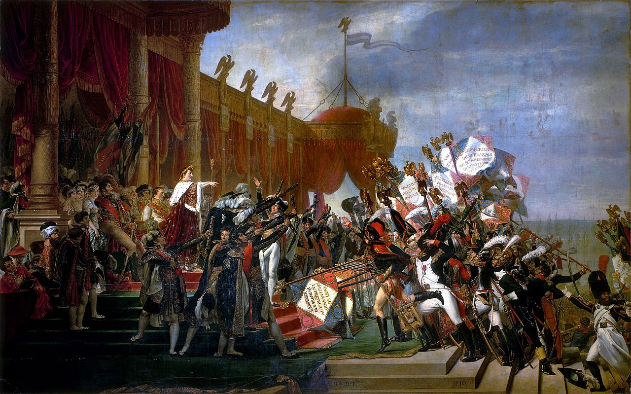The Distribution of the Eagle Standards, Jacques-Louis David. 1810, oil on canvas. Image: WikiCommons