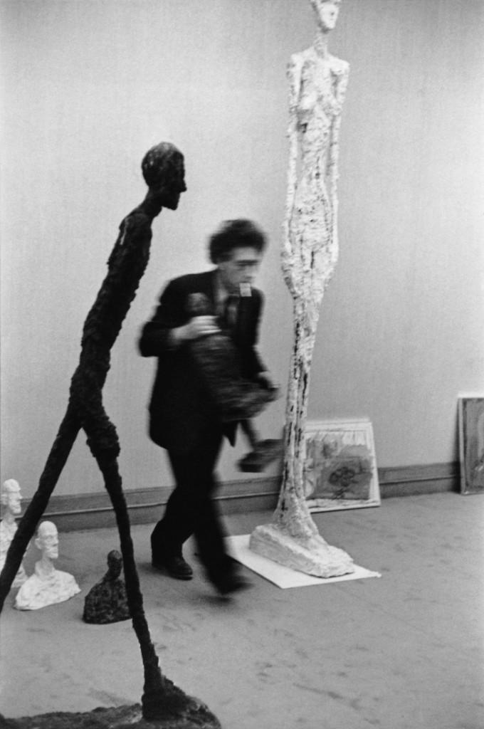 Alberto Giacometti, Maeght Gallery, Paris, 1961 ©Henri Cartier-Bresson : Magnum Photos