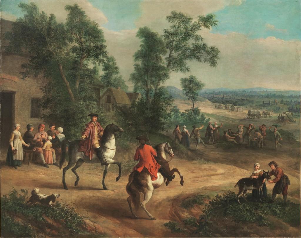PIETER ANGELLI (Dunkerque 1685 - Rennes 1734) - Siena campestre, Öl/Lwd., 150 x 189 cm Schätzpreis: 14.000-18.000 EUR
