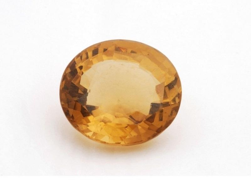 Cuarzo citrino en talla oval