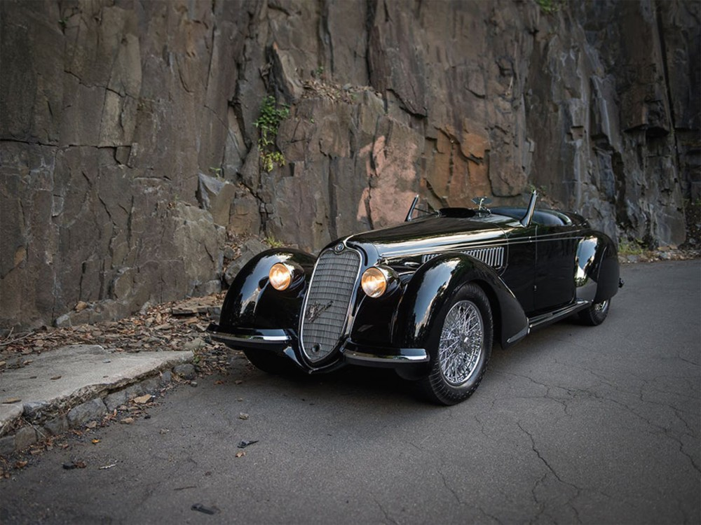 Alfa Romeo 8C 2900B Lungo Spider, 1939. Image courtesy of RM Sotheby's