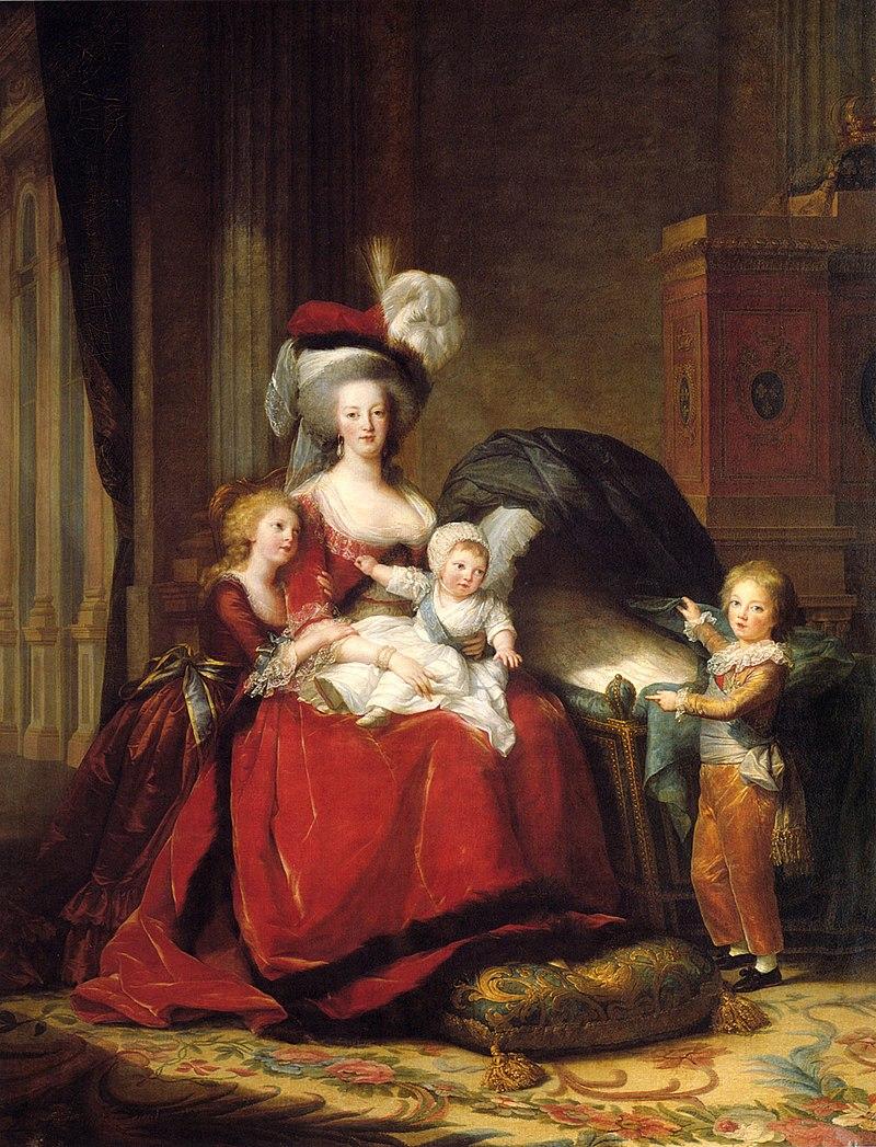 Eines der bekanntesten Gemälde Vigée-Lebruns zeigt Königin Marie Antoinette mit ihren Kindern (1787)