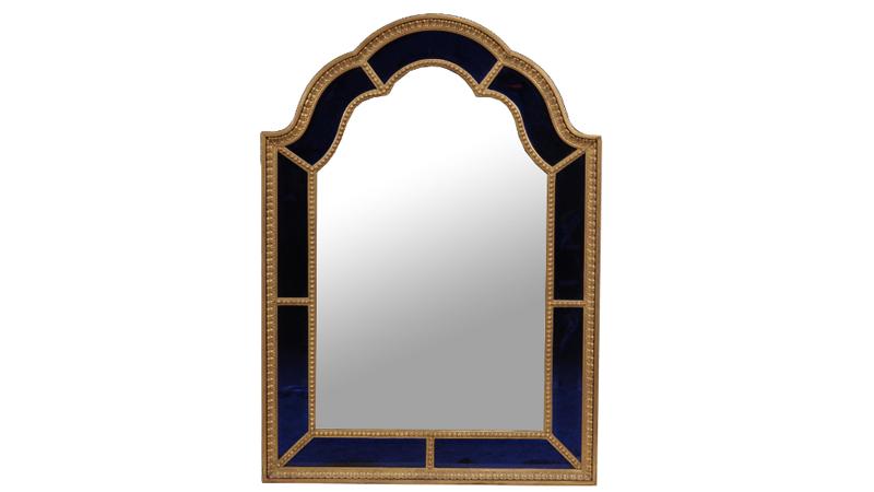 Spegel, Sverige. Förgylld med blått glas, 1900-tal. Dreweatts & Bloomsbury auctions
