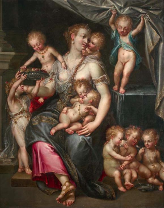 Dirck de Quade Van Ravesteyn, (1565-1620), « Allégorie de la fertilité et des sens », image ©HVMC