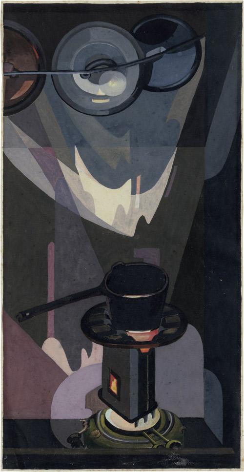 HANNAH HÖCH (1889-1978) - Den Haag, Küche, Petroleumkocher, Aquarell und Deckfarben auf Velin, 37,5 x 19,2 cm, betitelt, monogrammiert, signiert und datiert, 1927 Schätzpreis: 25.000 EUR