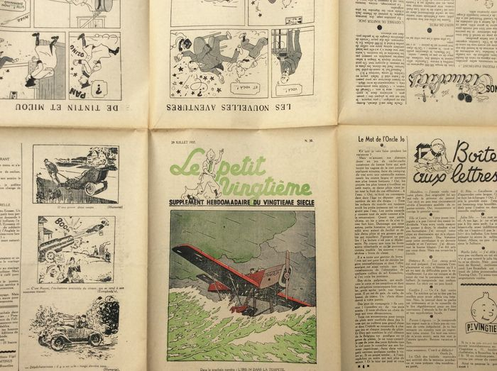 Tintin - Le Petit Vingtième 30 (1937) Estimation: 150 € En vente chez Catawiki