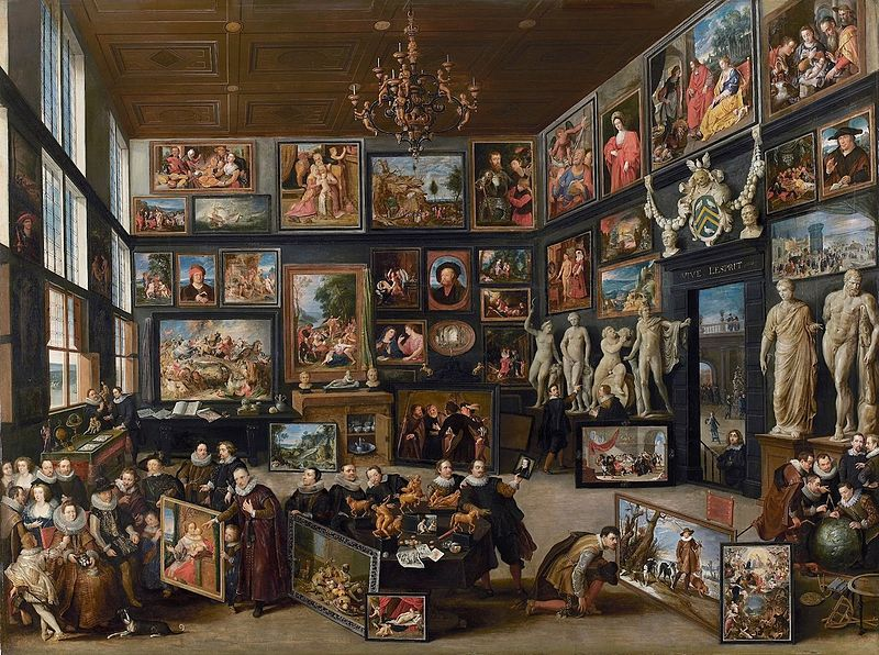 "Willem van Haecht, «""The Gallery of Cornelis van der Geest"". Peter Paul Rubens verk kan ses vänstra hörnet längst ner. Foto via Wikimedia Commons."