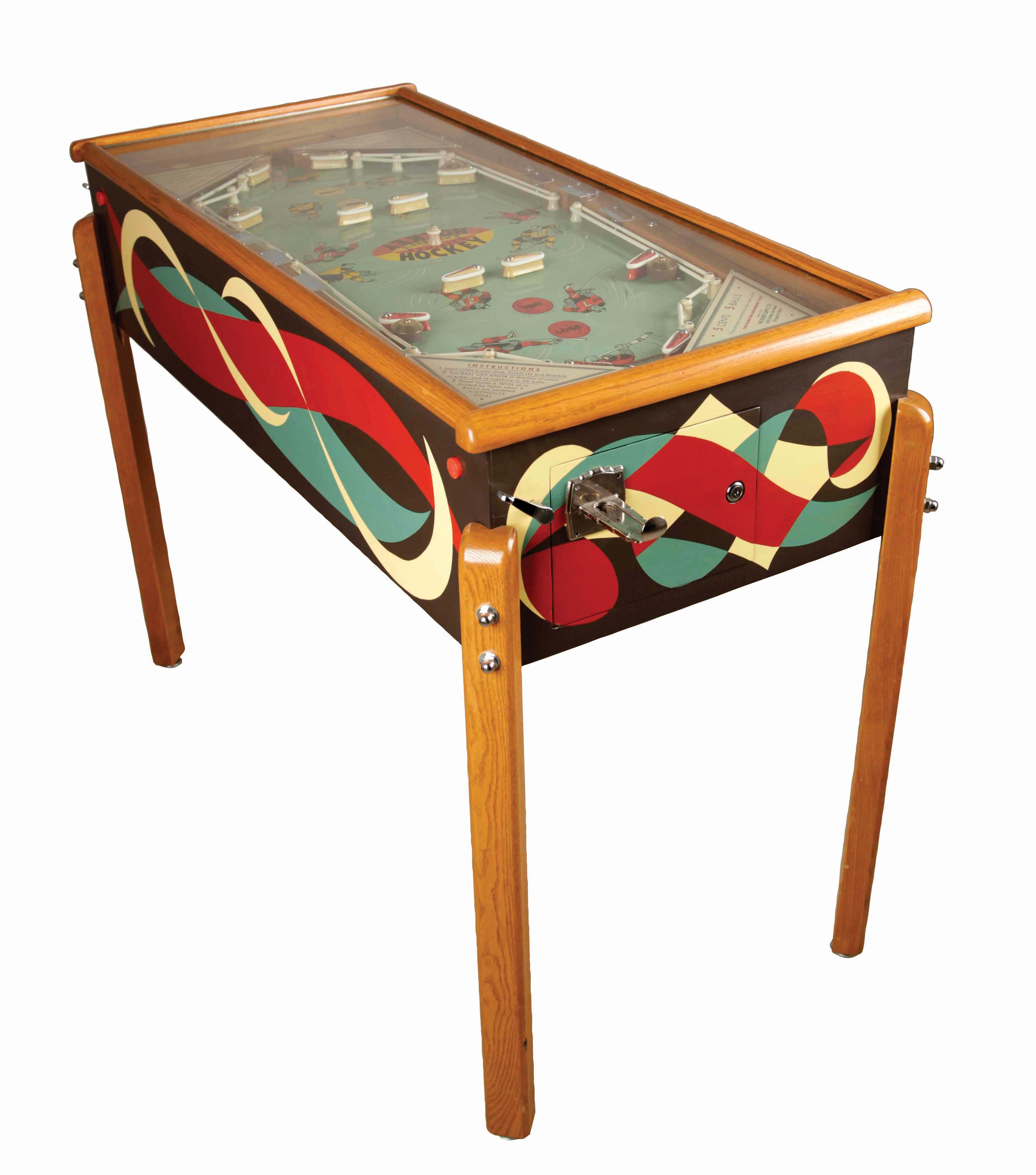 Flipperspel tillverkat år 1953. Foto: Morphy Auctions.